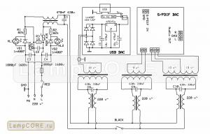 Схема блока питания самодельного DAC PCM2704+CS8416+AK4396+OPA2132u